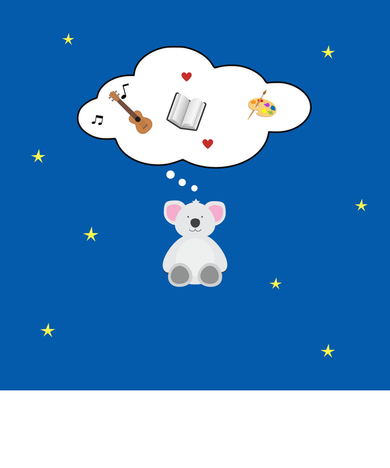 Teddy Bear on Blue Background