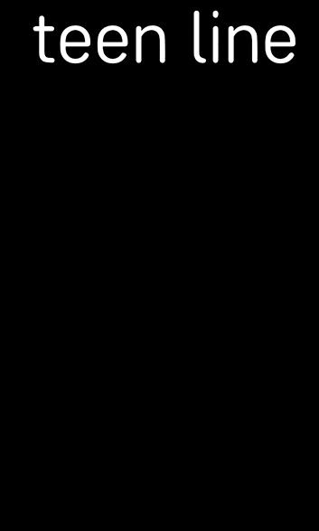Teen Line text logo
