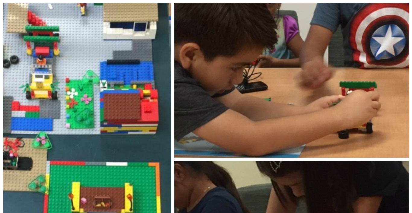Kids building with legos