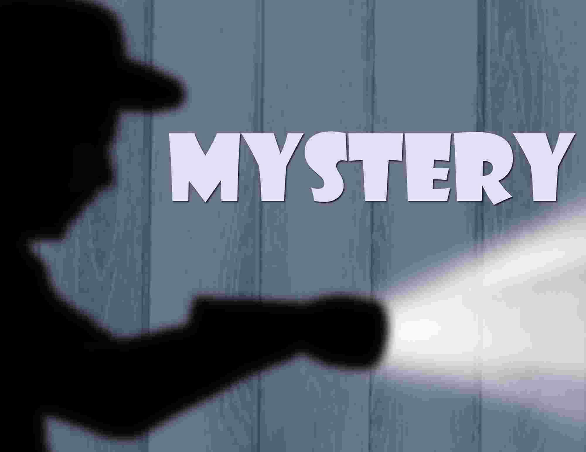 Shadowed man with a Flashlight