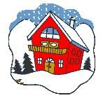 clip art of house in winter